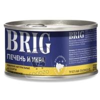 Печень и икра минтая натуральные деликатесное ассорти, BRIG, 230г (ж/б с ключом)