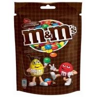 Шоколадное драже с арахисом и молочным шоколадом, M&M's, 130г (флоу-пак)