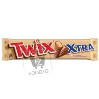 Печенье с карамелью покрытое молочным шоколадом, Twix Xtra, 82г (флоу-пак)