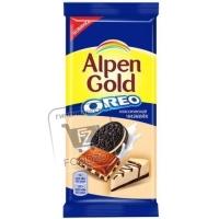 Шоколад молочный чизкейк и кусочки печенья oreo, Alpen Gold, 95г (флоу-пак)
