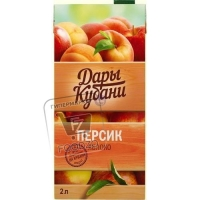 Нектар персик-яблоко, Дары Кубани, 2л (тетра-пак)
