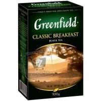 Чай черный листовой классический завтрак, Greenfield, 100г (картонная упаковка)