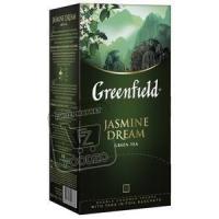 Чай зеленый с жасмином, Greenfield, 25пакетиков (картонная упаковка)