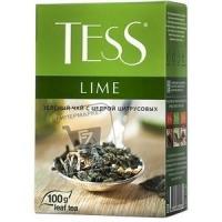 Чай зеленый с цедрой цитрусовых лайм, Tess, 100г (картонная упаковка)