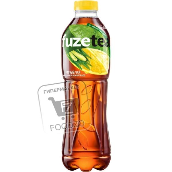 Чай холодный черный со вкусом лимон-лемонграсс, Fuzetea, 1л (пластиковая бутылка)