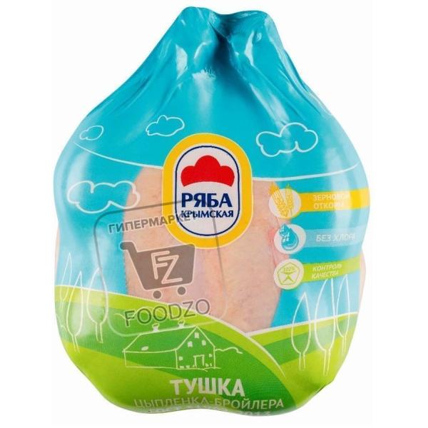Тушка цыпленка бройлера охлажденная, Ряба крымская, тушка 1~1,5кг (вакуумная упаковка)