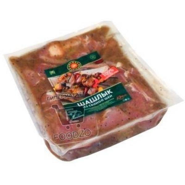 Шашлык из свиной шеи, Дружба народов, 1,1кг (вакуумная упаковка)