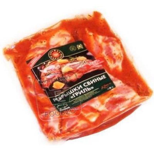 Ребрышки свиные для гриля по-кавказски, Дружба народов, 1кг (вакуумная упаковка)