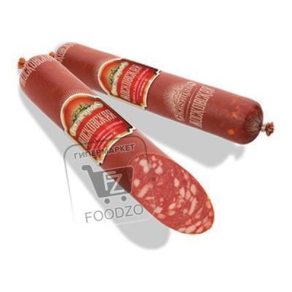 Колбаса варено-копченая московская, Скворцово, ~250г (вакуумная упаковка)