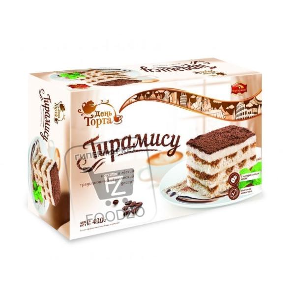 Торт бисквитный тирамису, Черемушки, 430г (картонная упаковка)