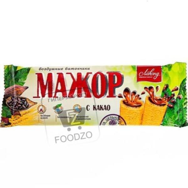Воздушный батончик мажор с какао, Лаконд, 38г (флоу-пак)
