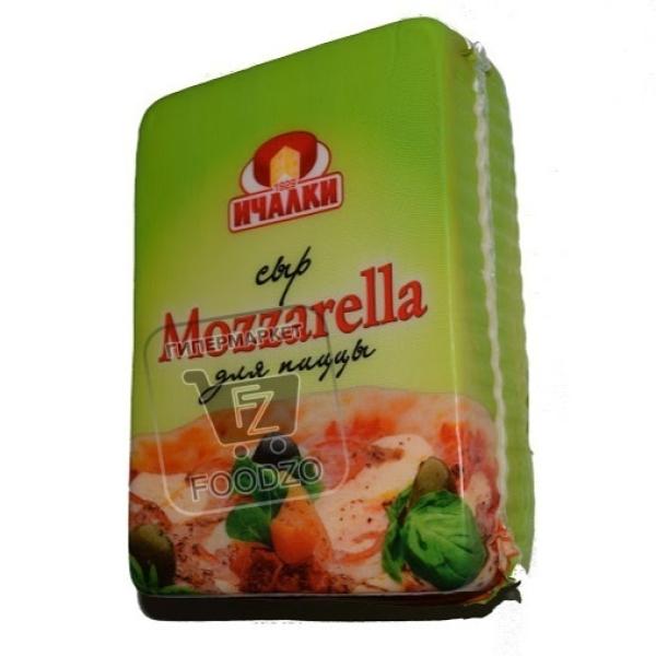 Сыр моцарелла для пиццы 40%, Ичалки, ~800г (вакуумная упаковка)