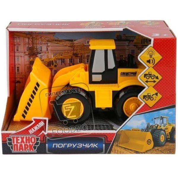 Игрушка машинка инерционная погрузчик со звуком и светом, Технопарк, 1шт (картонная упаковка)