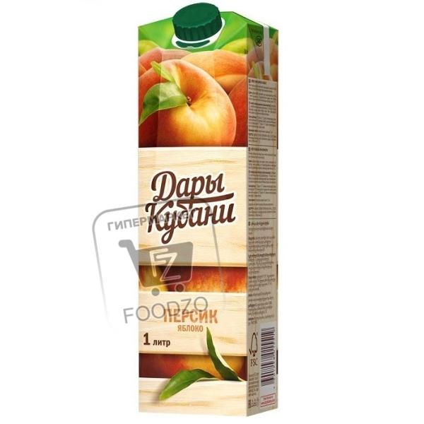 Нектар персик-яблоко, Дары Кубани, 1л (тетра-пак)