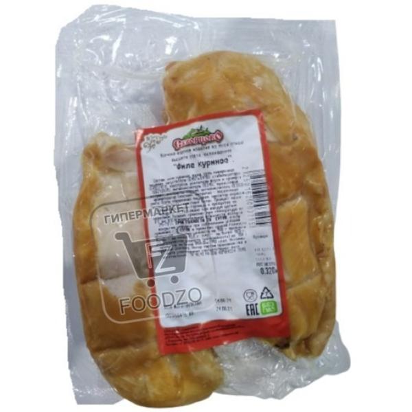 Филе куриное варено-копченое, Скворцово, ~350г (вакуумная упаковка)