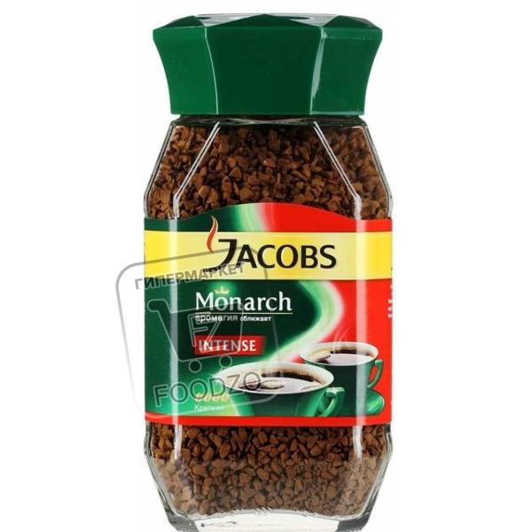 Кофе растворимый монарх intense, Jacobs, 48г (стеклянная банка)