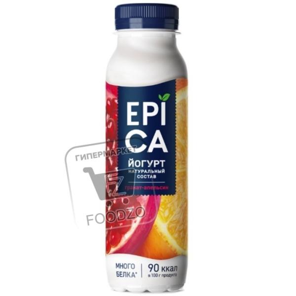 Йогурт гранат-апельсин 2,5%, Epica, 260г (пластиковая бутылка)