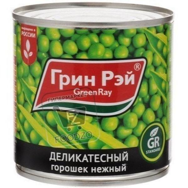 Горошек зеленый деликатесный, Green Ray, 425г (ж/б)