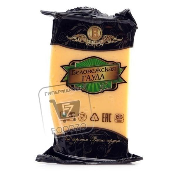 Сыр беловежская гауда 50%, Беловежские сыры, 200г (флоу-пак)
