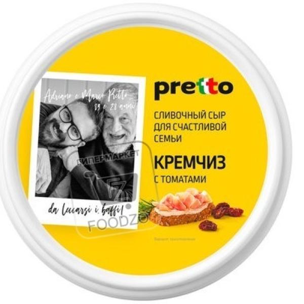 Сыр мягкий с томатами кремчиз с паприкой 70%, Pretto, 140г (пластиковая упаковка)