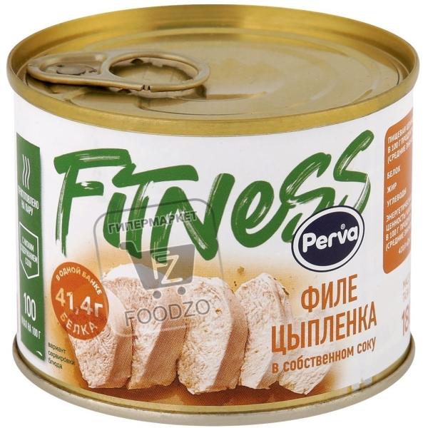 Филе цыпленка в собственном соку fitness, Perva, 180г (ж/б с ключом)