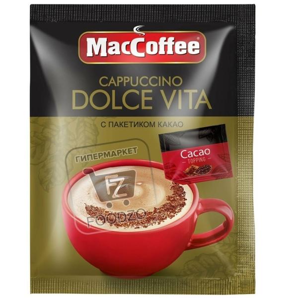 Кофейный напиток растворимый cappuccino dolce vita, MacCoffee, 24г (саше)