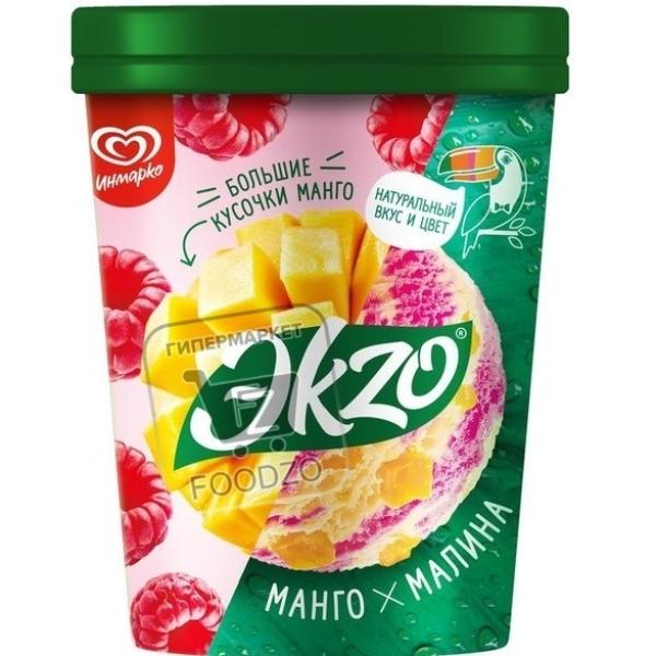 Мороженое манго-малина, Экzо, 520г (пластиковая упаковка)